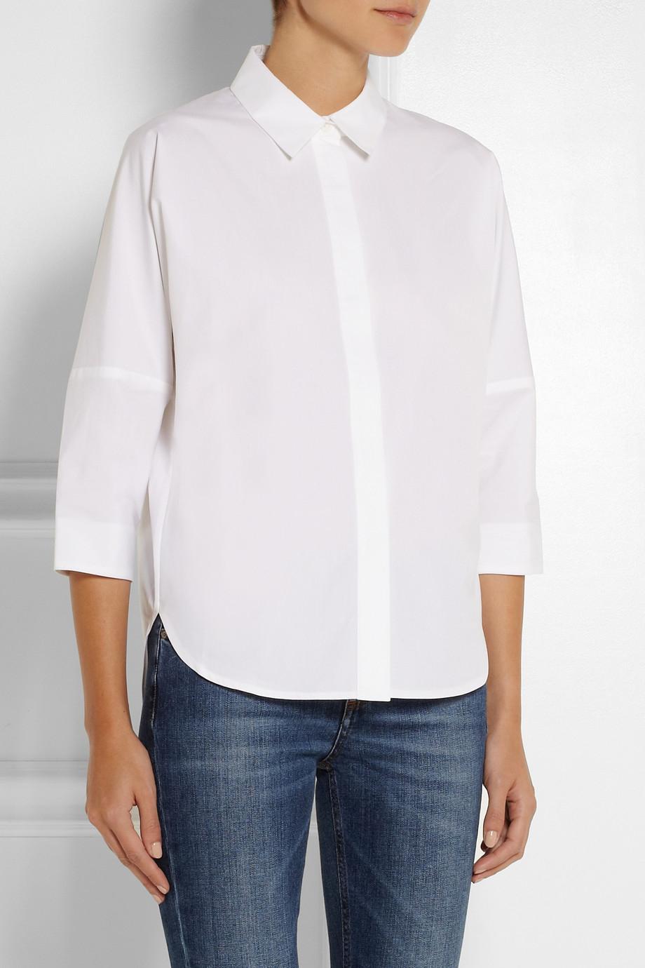 Lyst Victoria Beckham Oversized Cotton Shirt In White