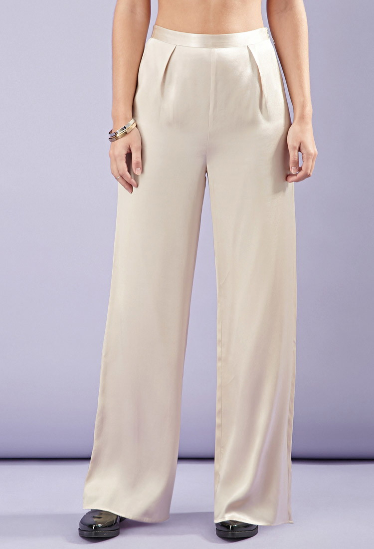 wide leg satin pants - Pi Pants