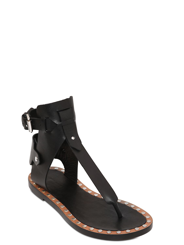 0cdf5c2956b Lyst - Isabel Marant Jayson Leather Gladiator Sandals in Black