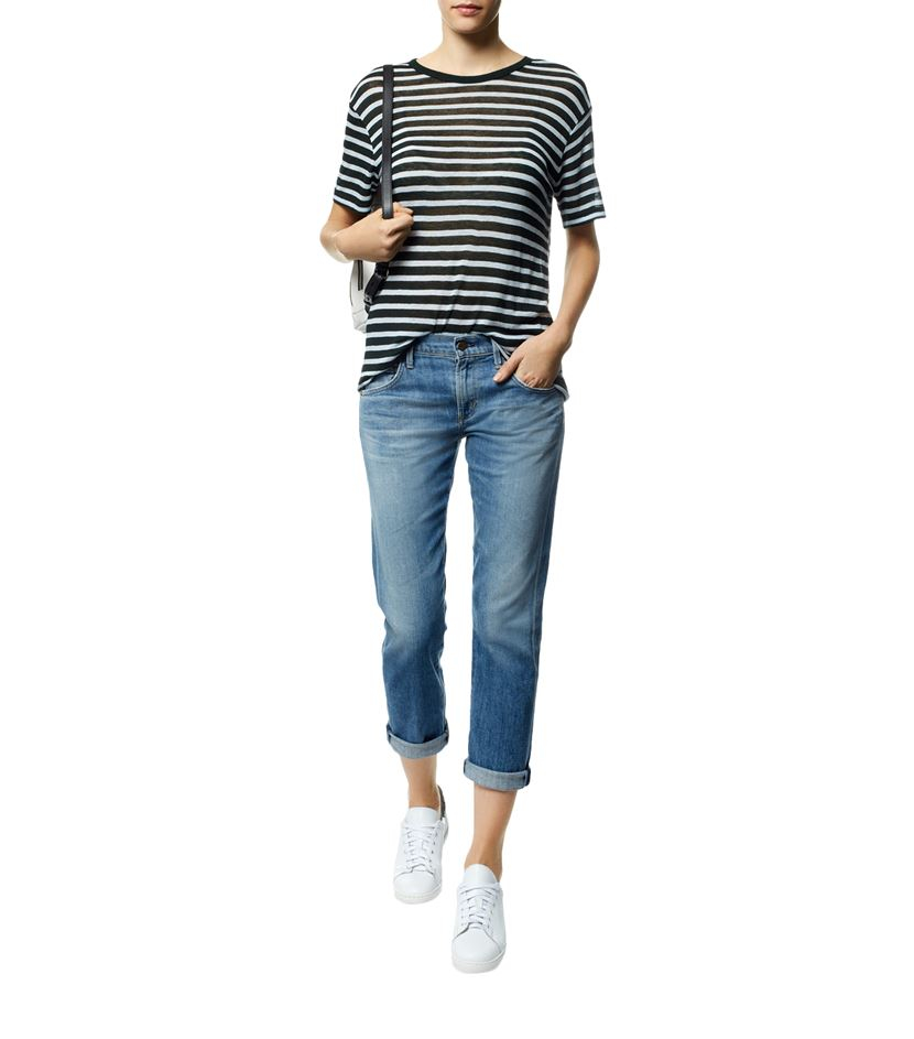 Lyst t by alexander wang striped t shirt in black for T by alexander wang t shirt