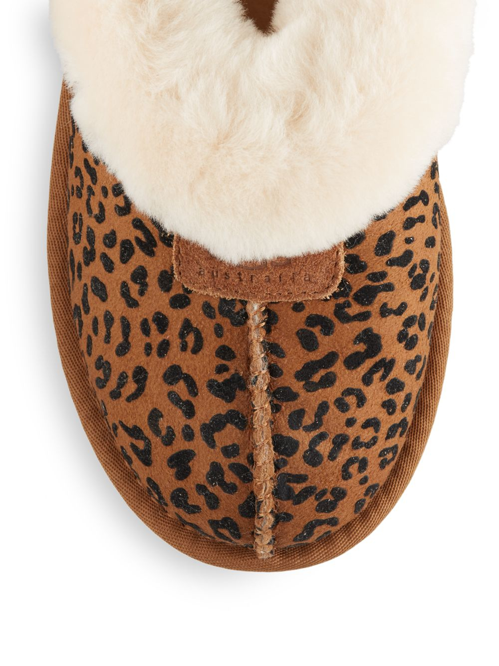 890638147c3 UGG Multicolor Coquette Shearling-lined Leopard-print Suede Slippers