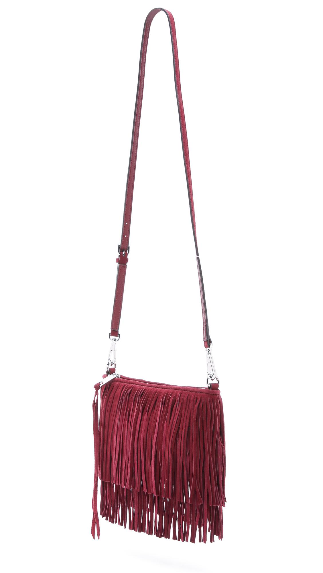 Rebecca Minkoff Finn Cross Body Bag - Port in Red