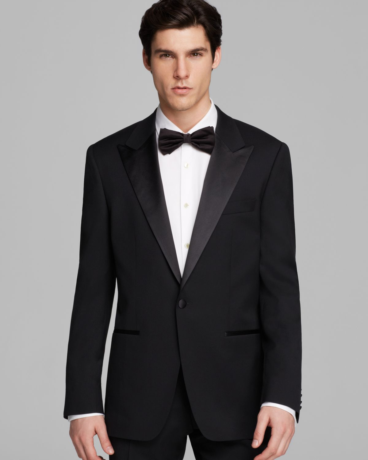 lyst boss boss caiden glamz tuxedo suit classic fit in. Black Bedroom Furniture Sets. Home Design Ideas