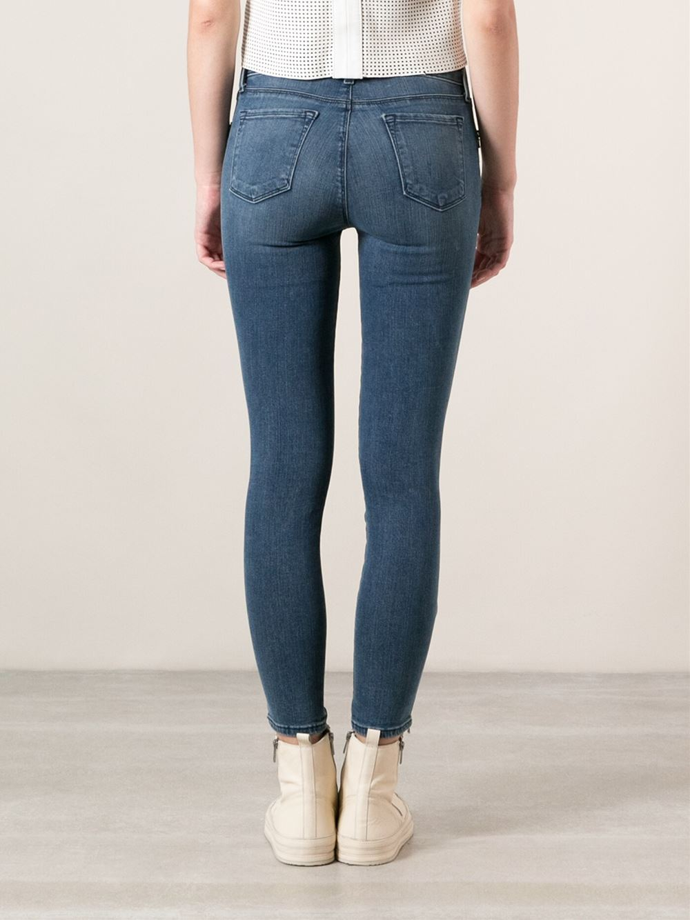 Lyst J Brand Photo Ready Cropped Skinny Jeans In Blue