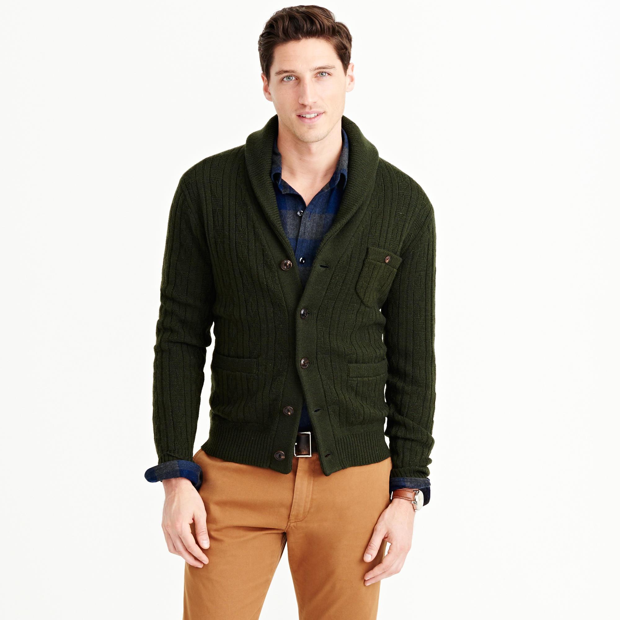 J.crew Wallace & Barnes Wool Shawl Cardigan Sweater In