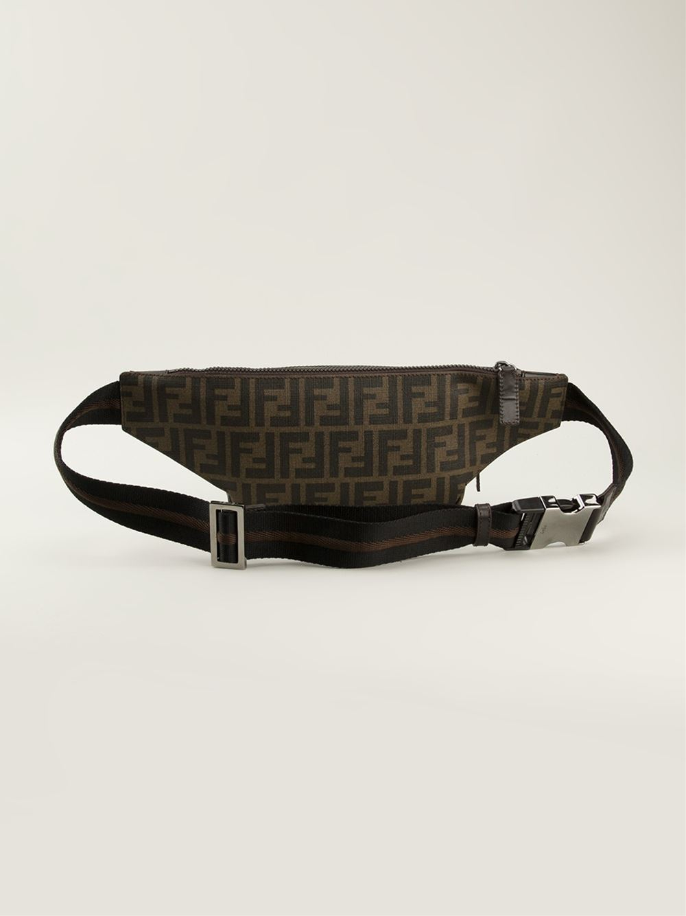 02e72d4dc6 Fendi Brown Zucca Belt Bag for men