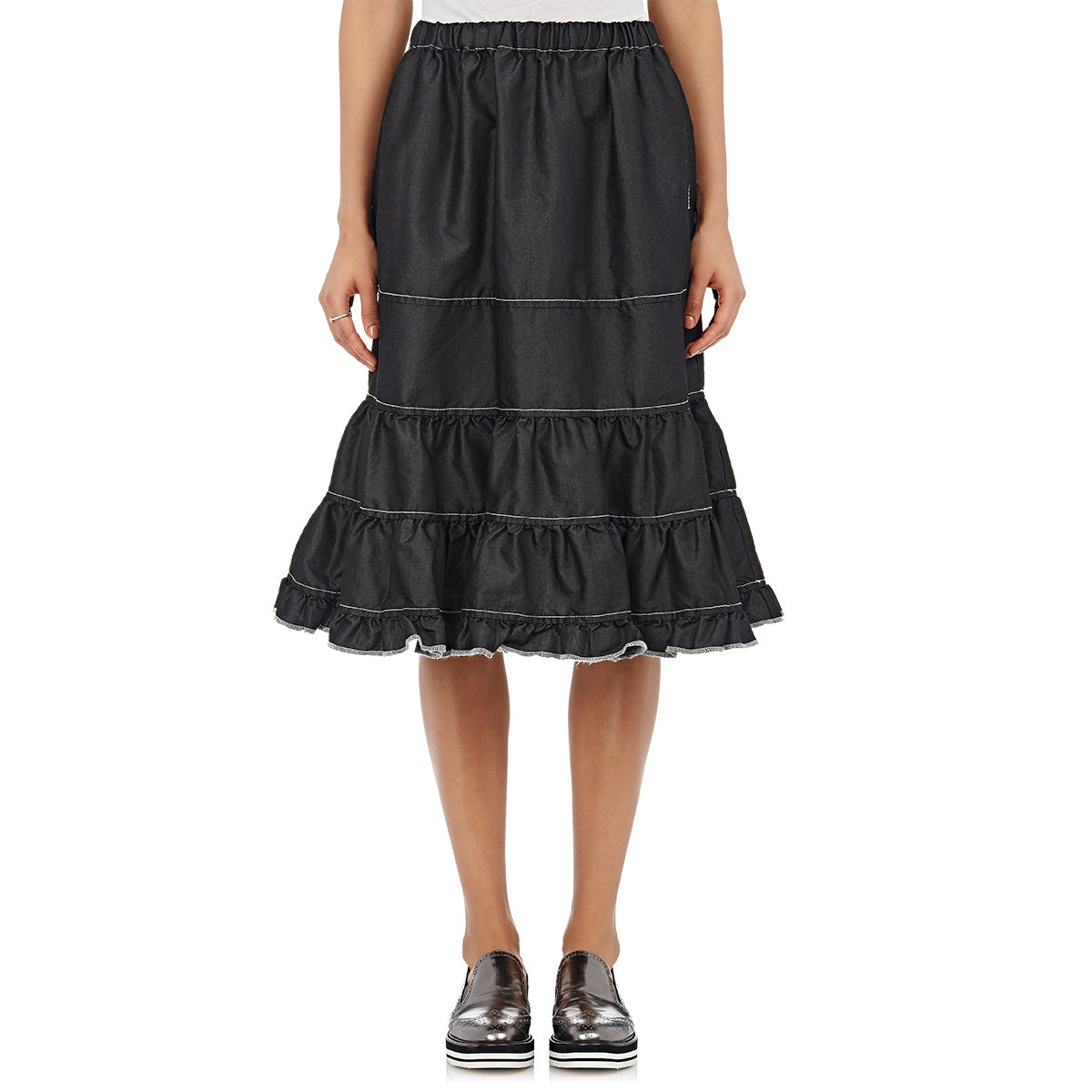 Lyst Comme Des Gar 231 Ons Tricot Women S Tiered Ruffle