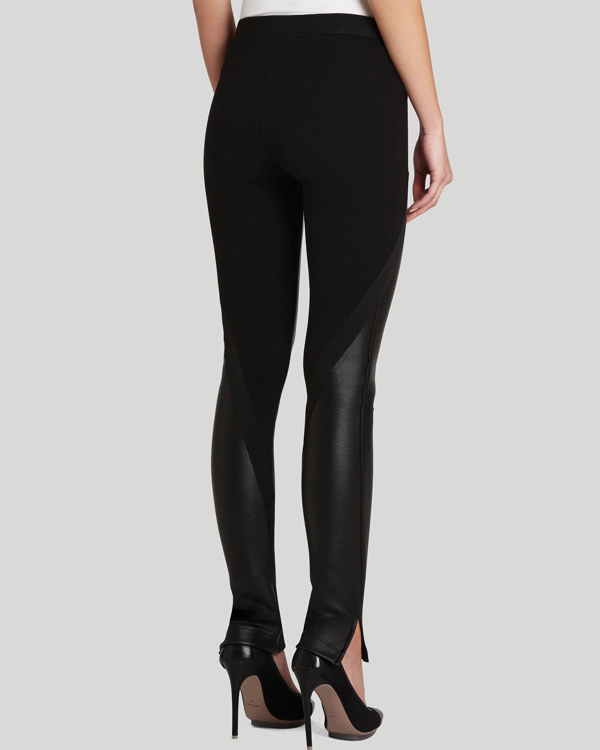 a183b39e65fa39 BCBGMAXAZRIA Bcbg Max Azria Leggings Slade Faux Leather in Black - Lyst