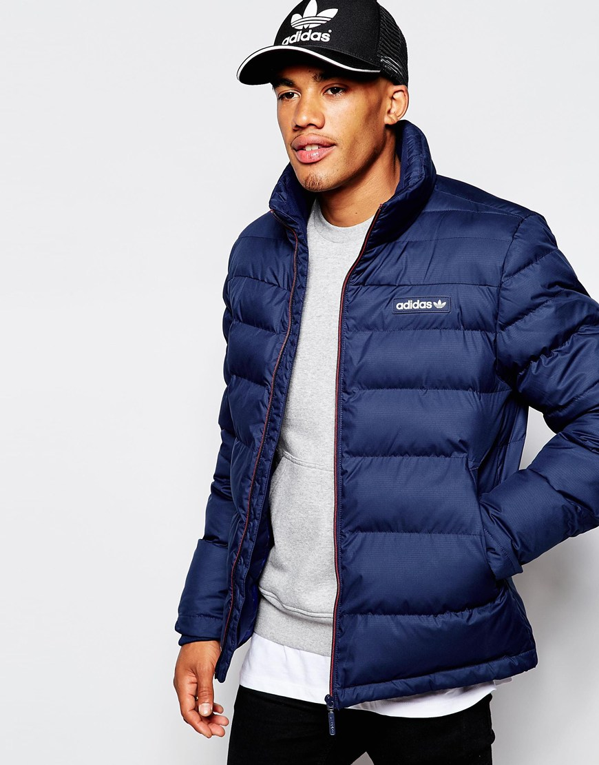 Lyst Adidas Originals Padded Jacket Ab7875 In Blue For Men