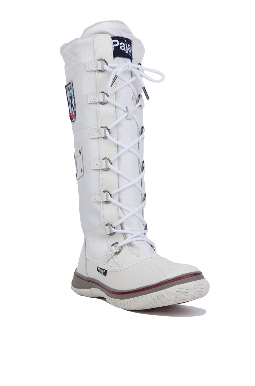 Pajar Synthetic Women's Grip Zip Tall Winter Boots in White