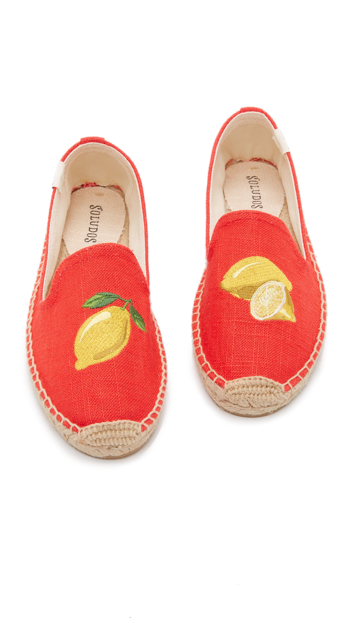 44a64eccc98 Lyst - Soludos Lemons Smoking Slipper Espadrilles in Red