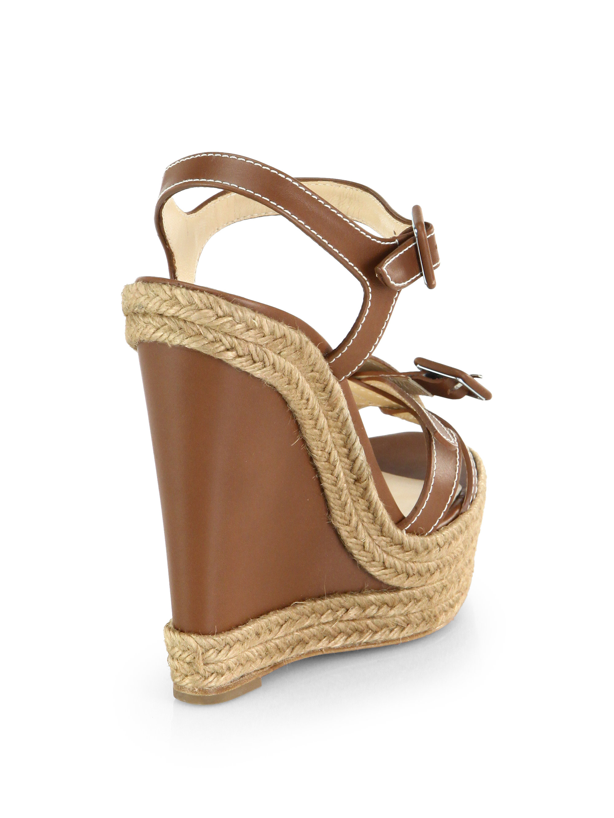 louboutin shoes for men - christian louboutin wedges Brown leather | The Little Arts Academy