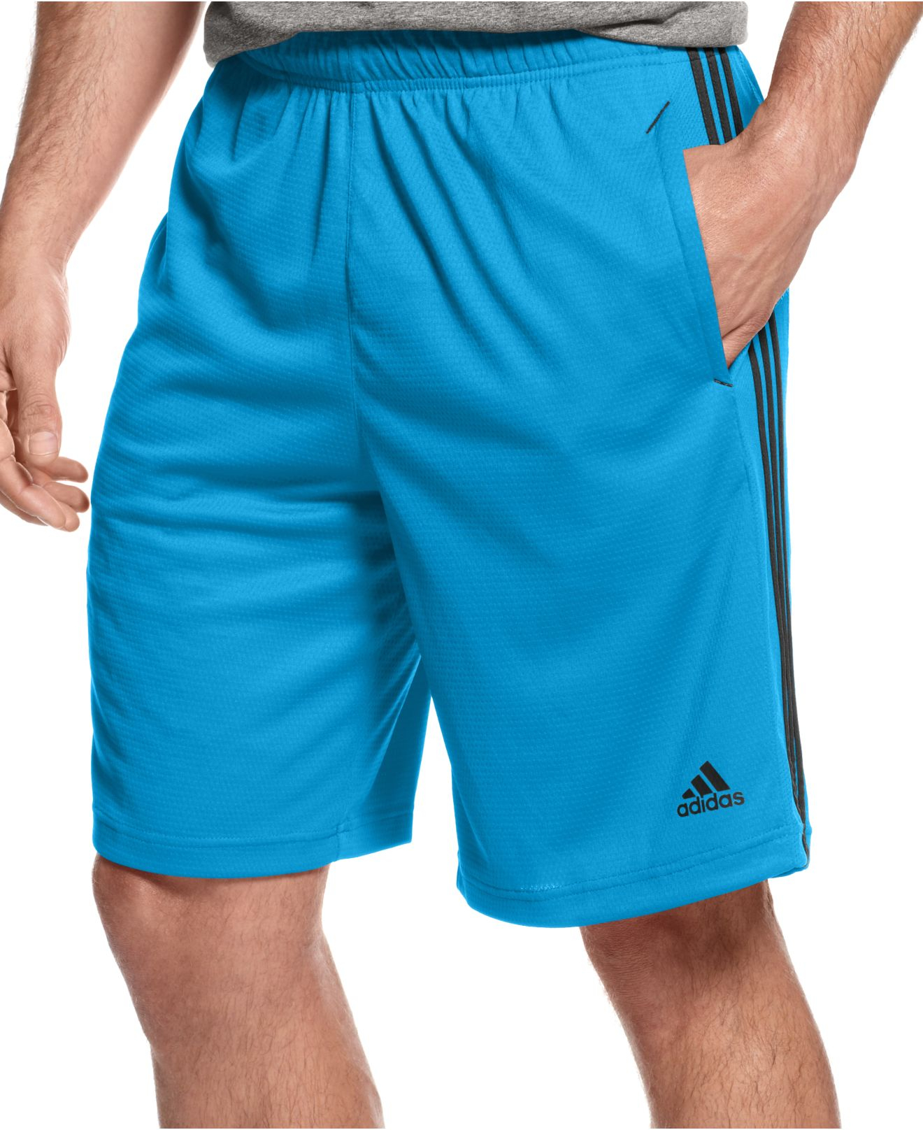 lyst adidas climalite essential shorts in black for men. Black Bedroom Furniture Sets. Home Design Ideas