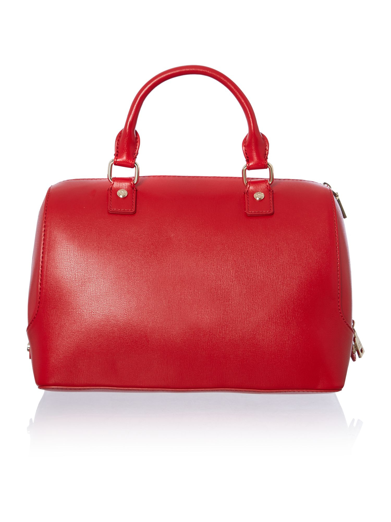 love moschino red and black large colourblock bowling bag in red lyst. Black Bedroom Furniture Sets. Home Design Ideas