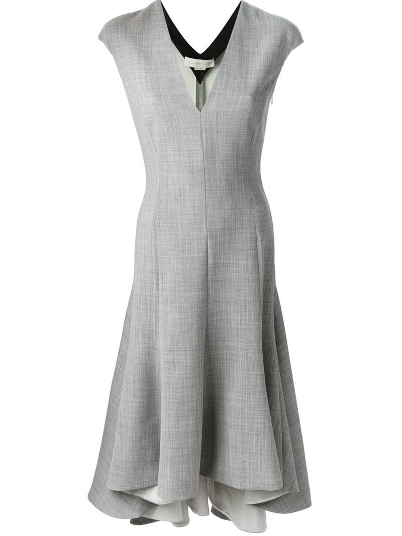 Lyst Stella Mccartney Isabel Dress In Gray