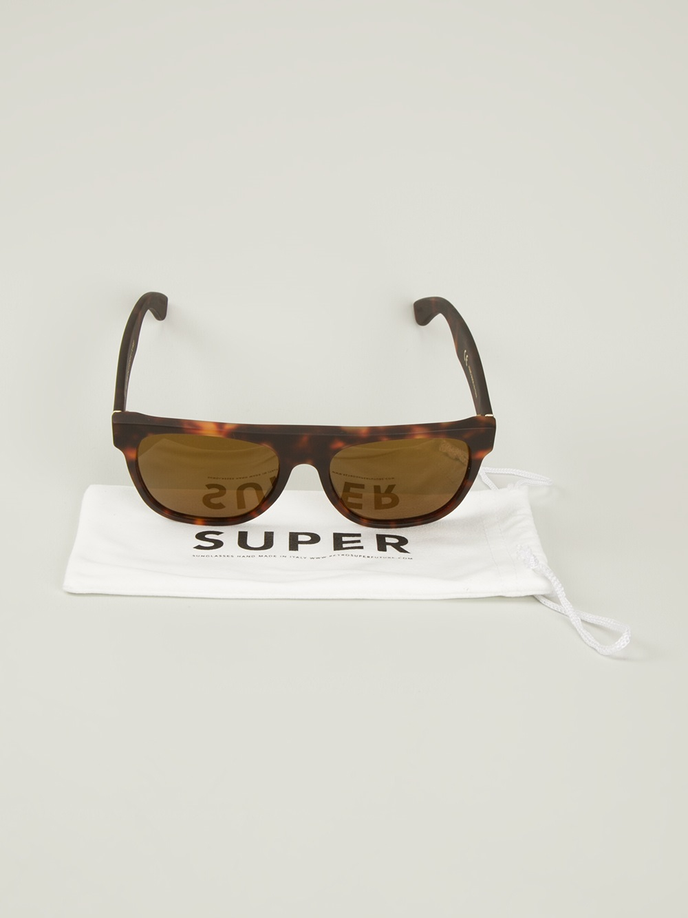 fcdbb4608888 Lyst - Retrosuperfuture Flat Top Tortoise Shell Tone Sunglasses in ...