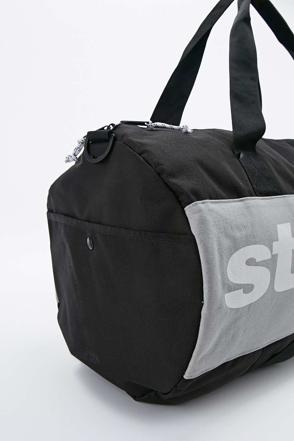 3bc34d587c9 Stussy X Herschel Supply Co. Sport Duffle Bag In Black And Grey in ...