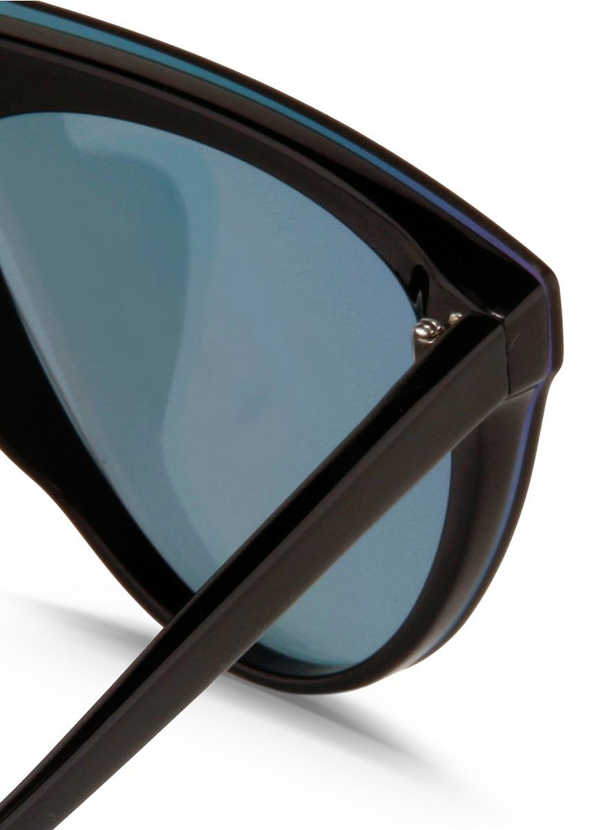 56b609ef010 Lyst - 3.1 Phillip Lim Flat Top Mirror Shield Acetate Sunglasses in ...