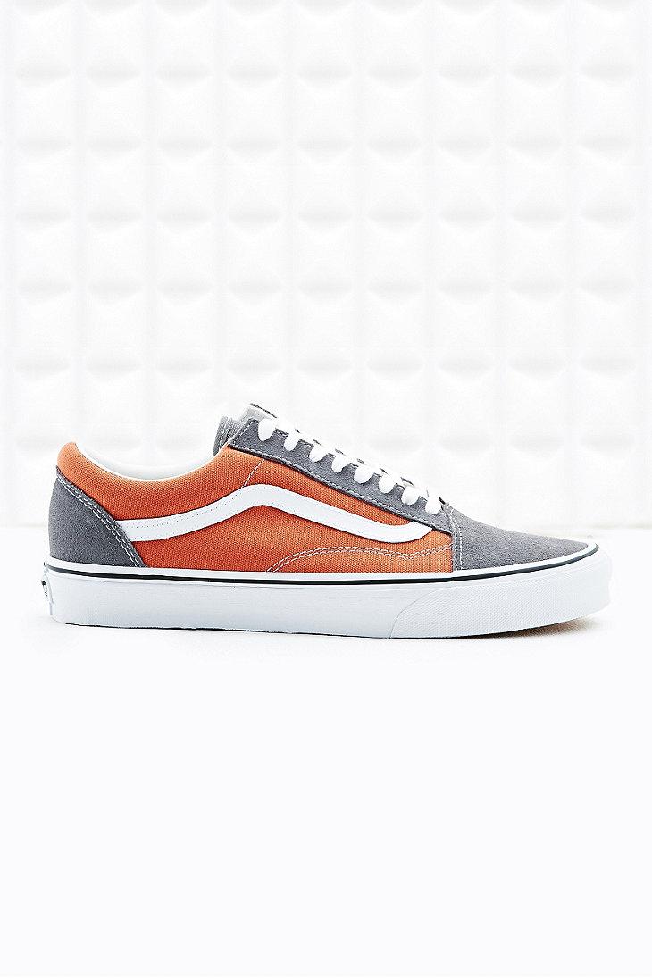 Vans Old Skool Trainers in Rust Orange and Grey in Gray for Men - Lyst 98fbc3107