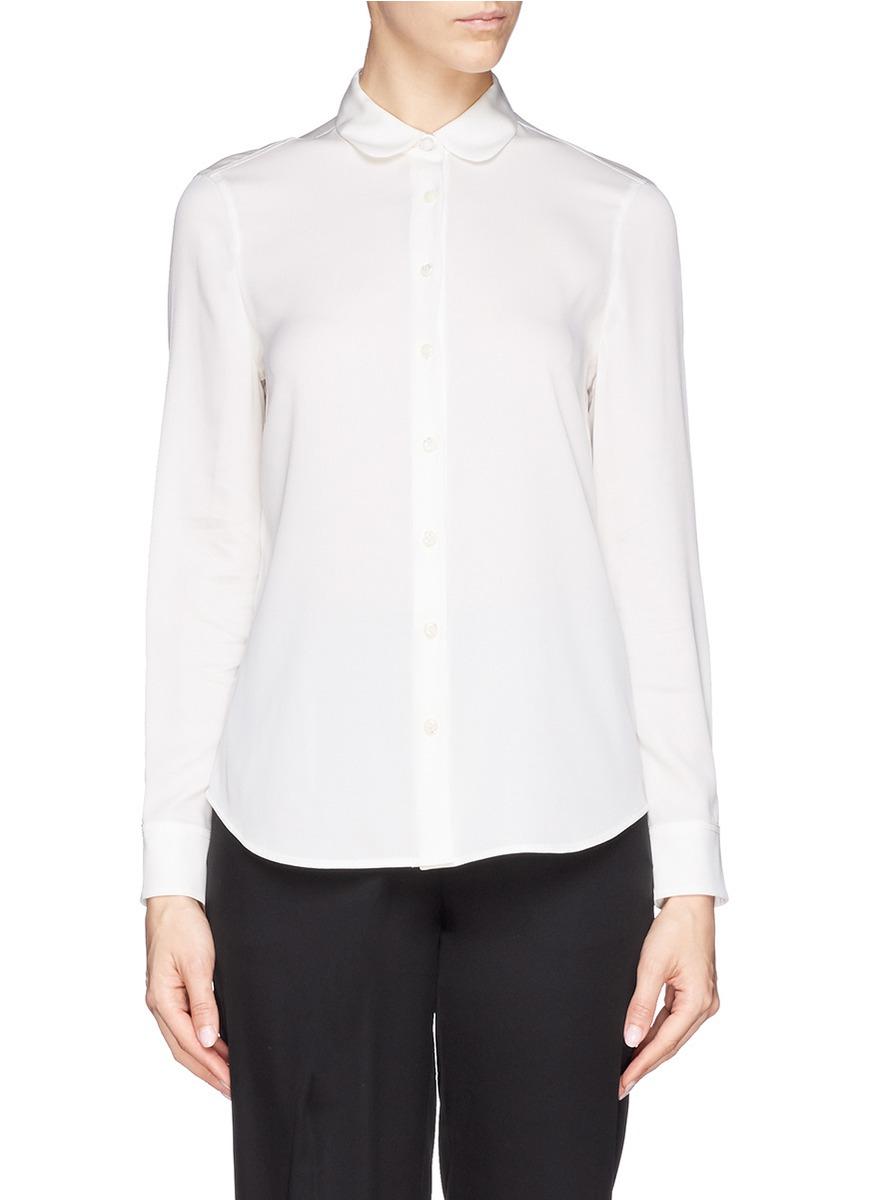 Womens Peter Pan Collar White Blouse 15