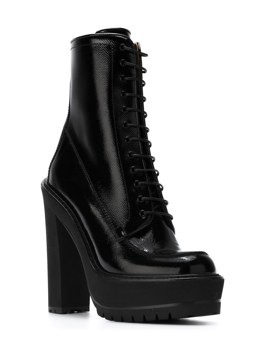 Givenchy Leather Lace-up Platform Boots in Black