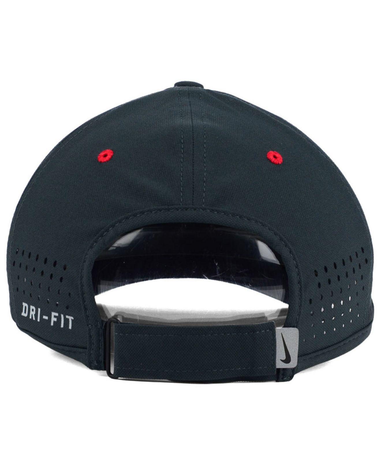 5b0d87d0252 ... greece lyst nike boston red sox vapor swoosh adjustable cap in gray for  men 5df6f 1b6be ...