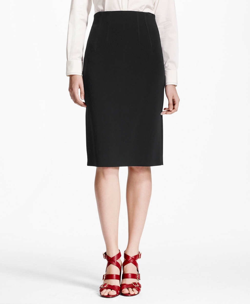brothers high waisted pencil skirt in black lyst