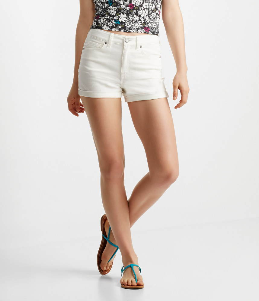 Aéropostale Seriously Stretchy High-waisted Midi Shorts | Lyst