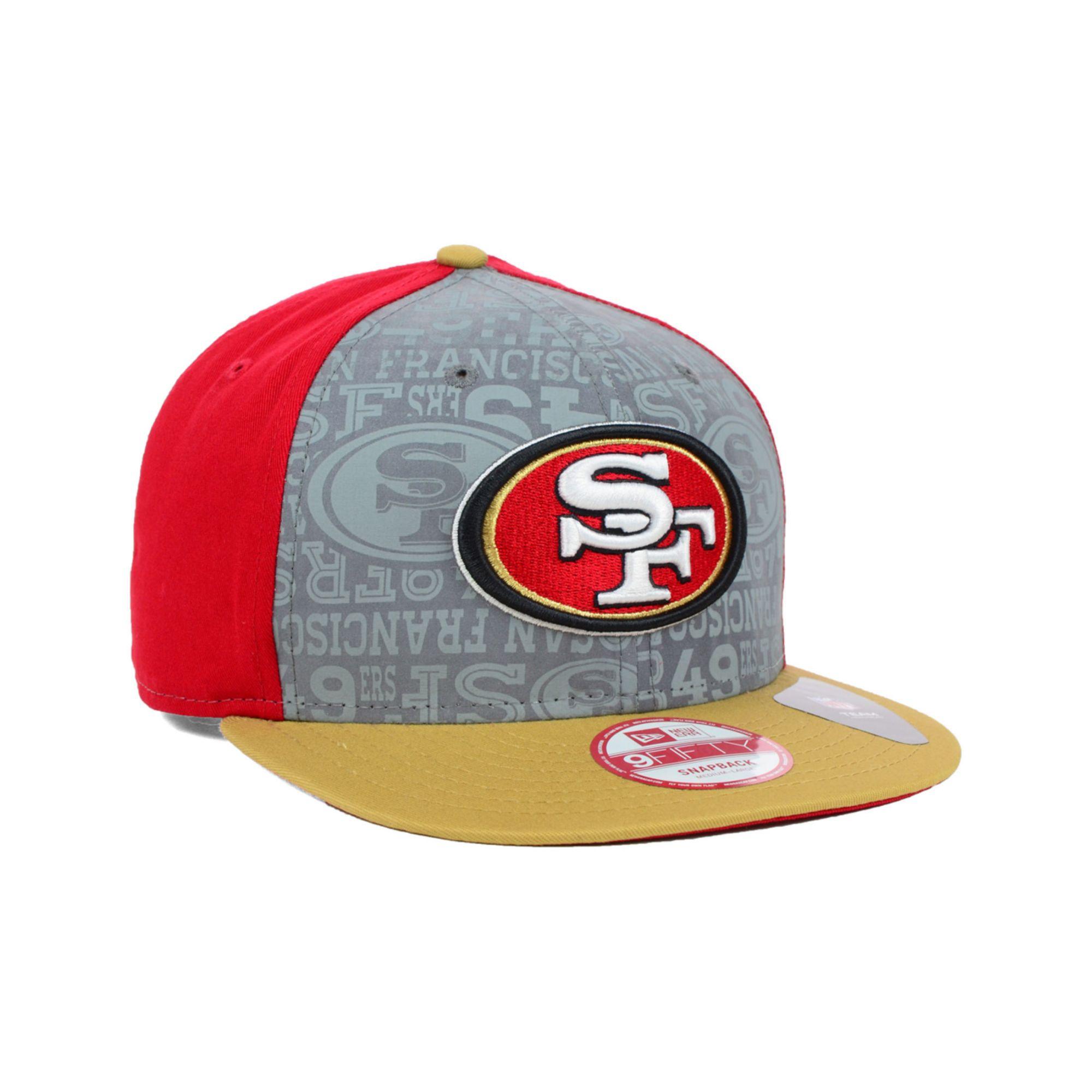 5fbc9cc0 KTZ Red Kids San Francisco 49ers Nfl Draft 9fifty Snapback Cap for men