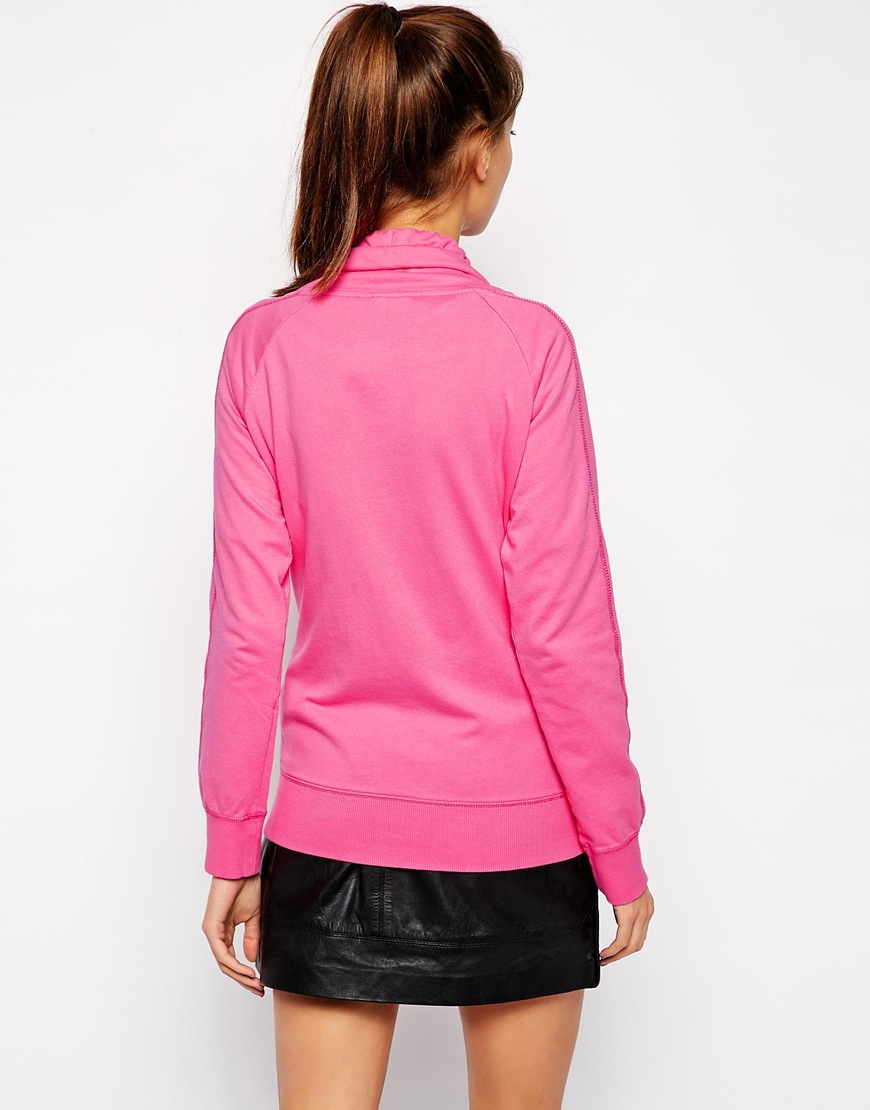 Puma Zip Up Jacket in Pink   Lyst