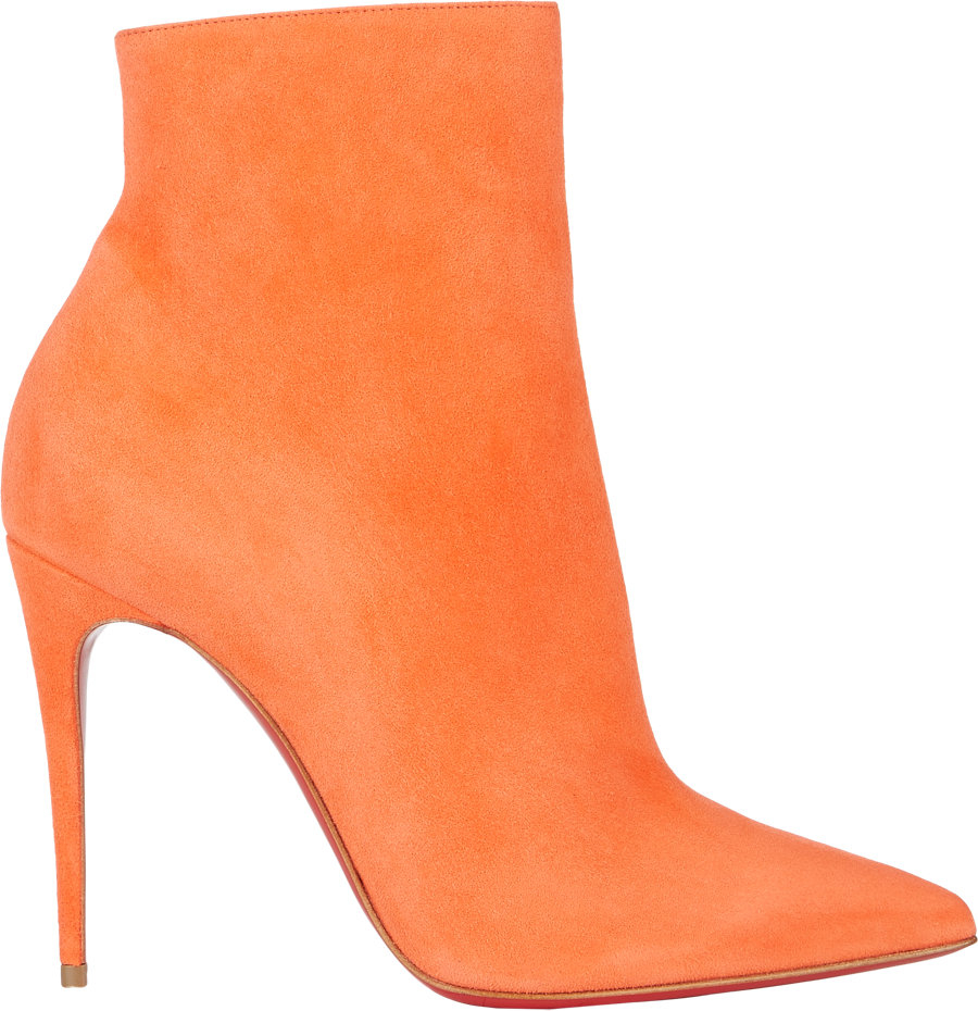 f343c78ef96 Christian Louboutin Suede So Kate Ankle Booties in Orange - Lyst
