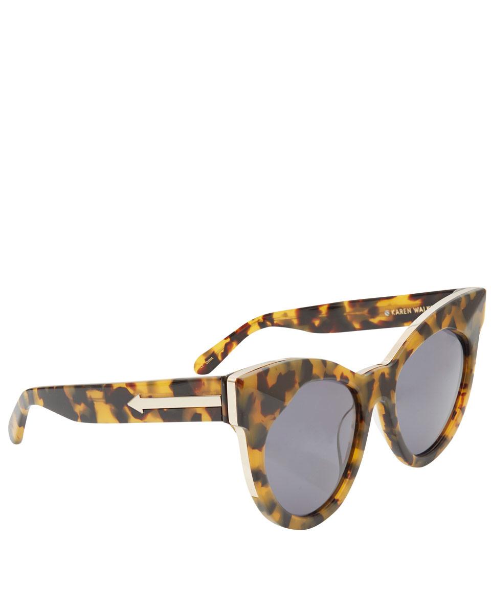 ead3a4ef50f4 Karen Walker Brown Starburst Crazy Tort Cat Eye Sunglasses in Brown ...