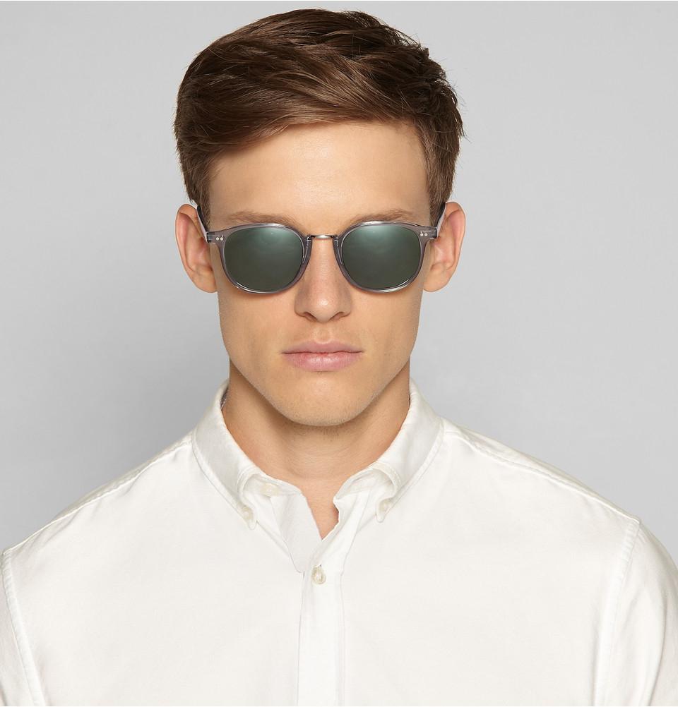 84a99fd28b Lyst - Cutler   Gross D-Frame Acetate Sunglasses in Gray for Men