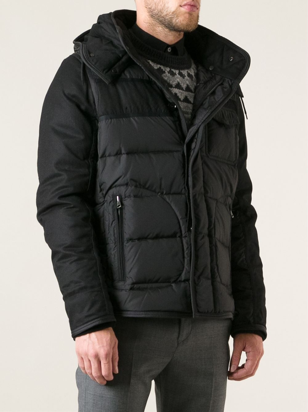 moncler ryan jacket in black for men lyst. Black Bedroom Furniture Sets. Home Design Ideas