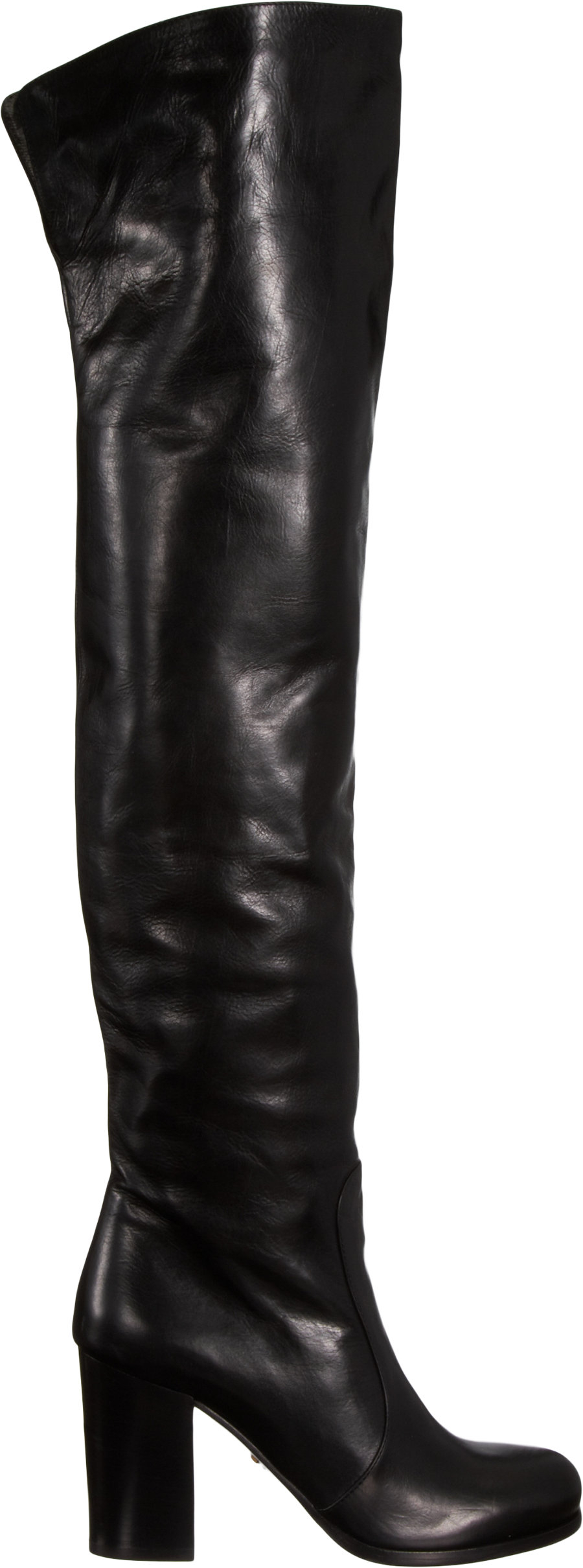 637e0d10037d Prada Slouchy Over-The-Knee Boot in Black - Lyst