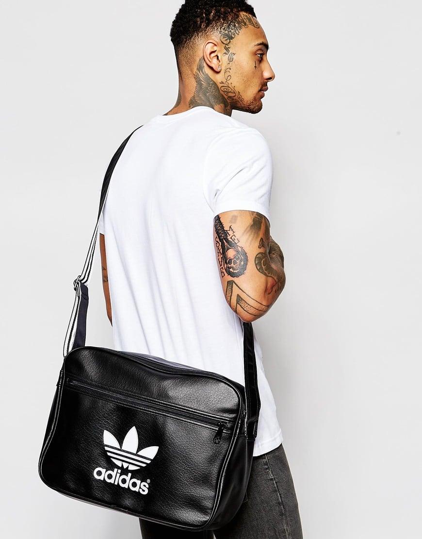 Adidas Originals Airliner Messenger Bag In Black For Men