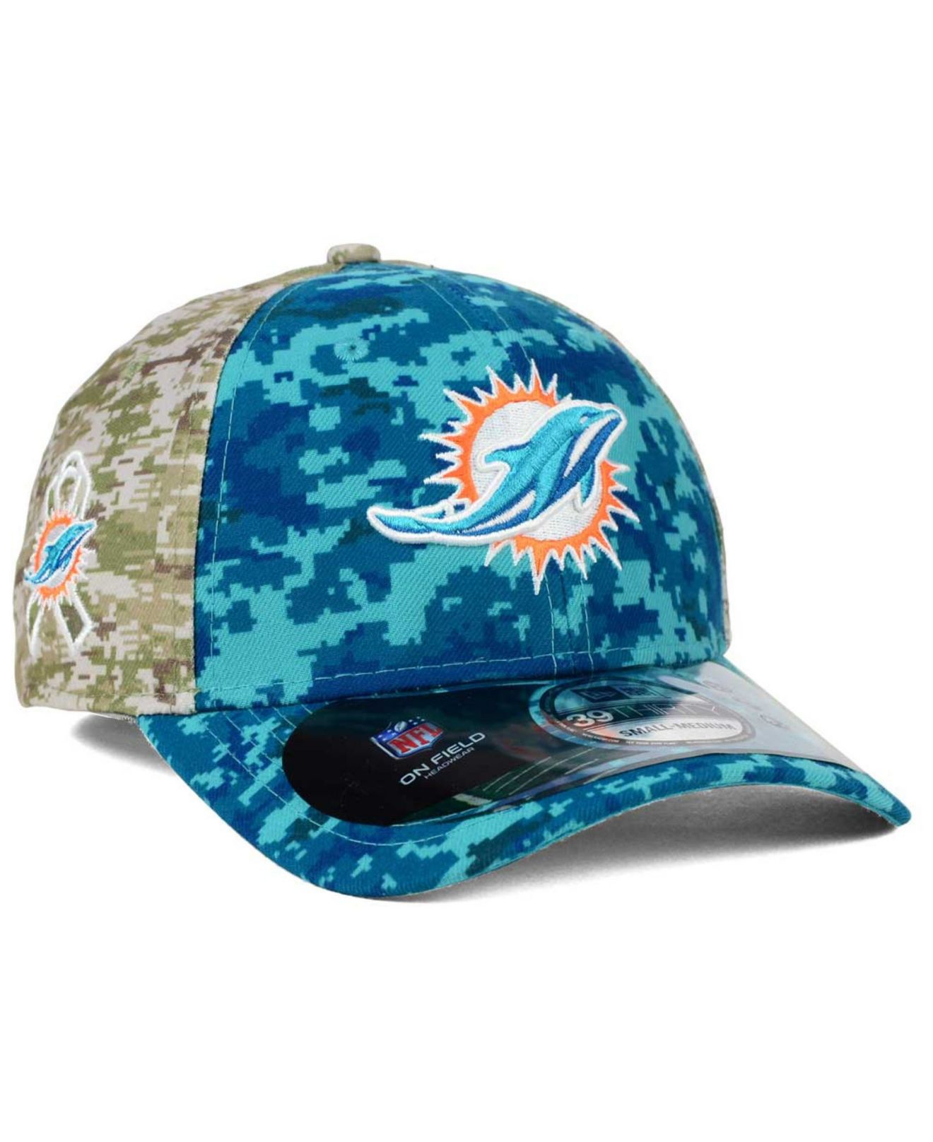 ... discount lyst ktz miami dolphins salute to service 39thirty cap in blue  for men dfb6c 5a4ef ... 250cfc2d2fc0