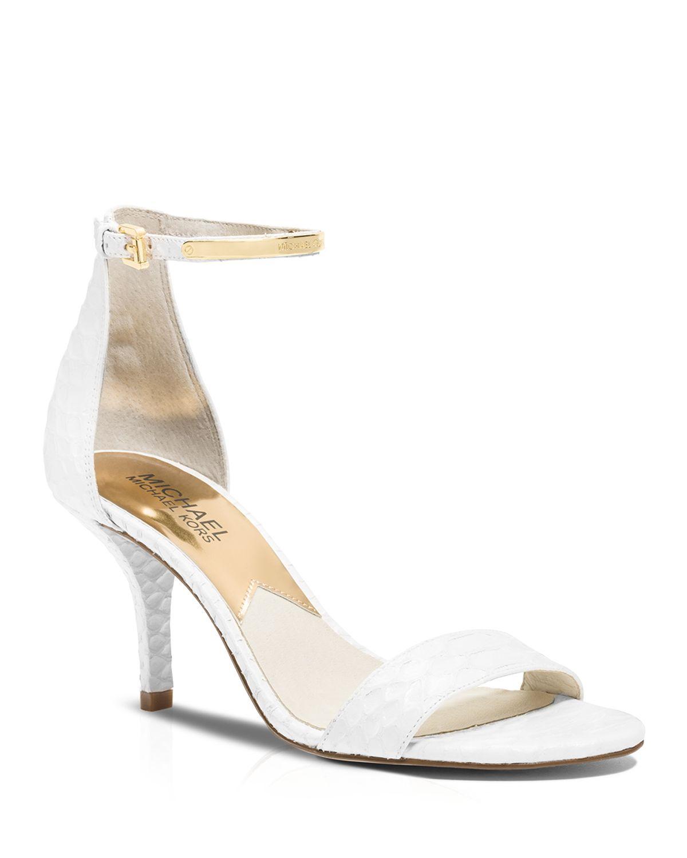 c0e5fa1995 MICHAEL Michael Kors Open Toe Sandals - Kristen High Heel in White ...
