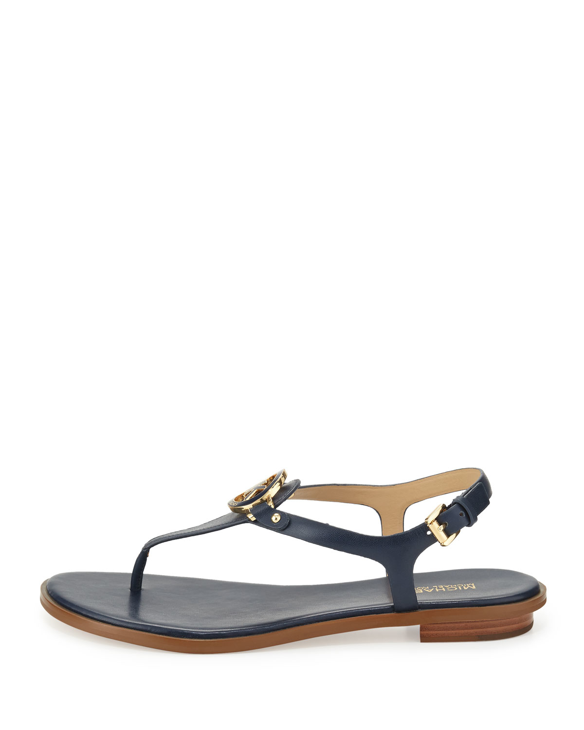 Michael michael kors Lee Leather Sandals in Blue   Lyst