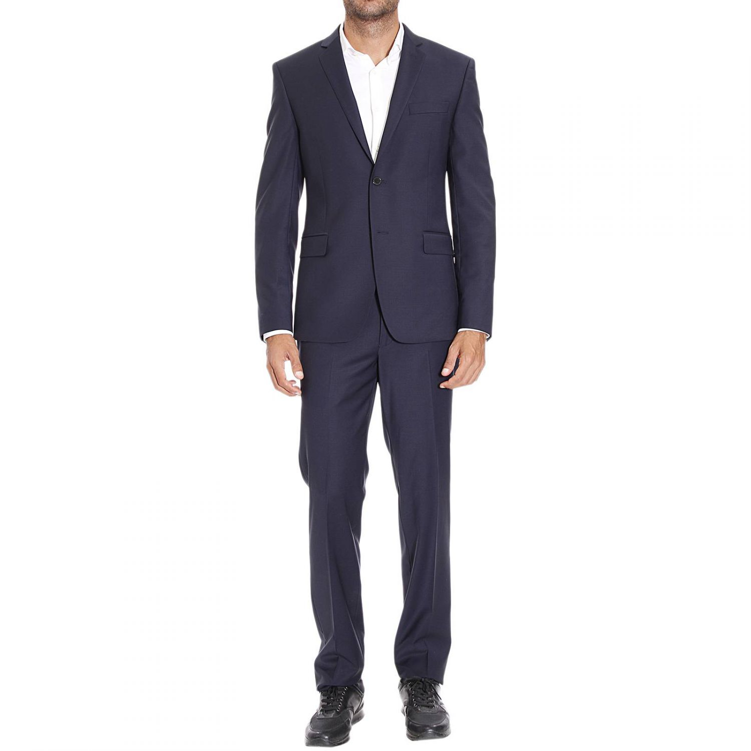 Versace Suit Man In Blue For Men