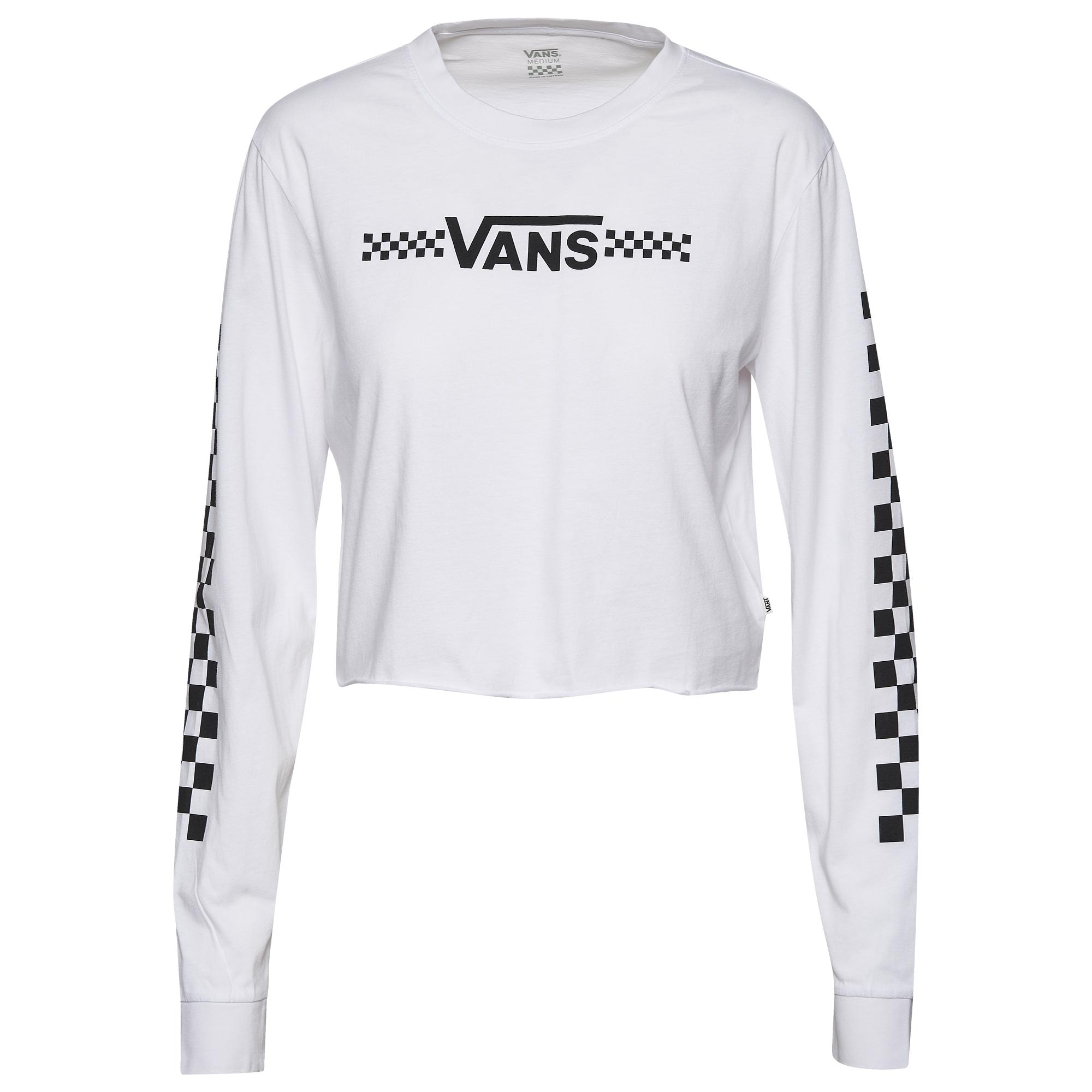 Vans Cotton Funnier Times Long Sleeve Crop Top in White - Lyst