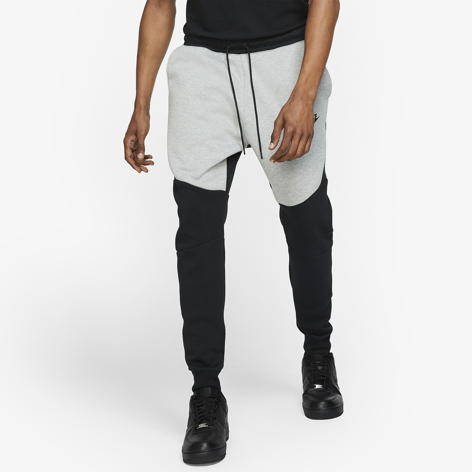 Nike Tech Fleece Joggers In Black Dark Grey Heather Gray For Men Save 28 Lyst
