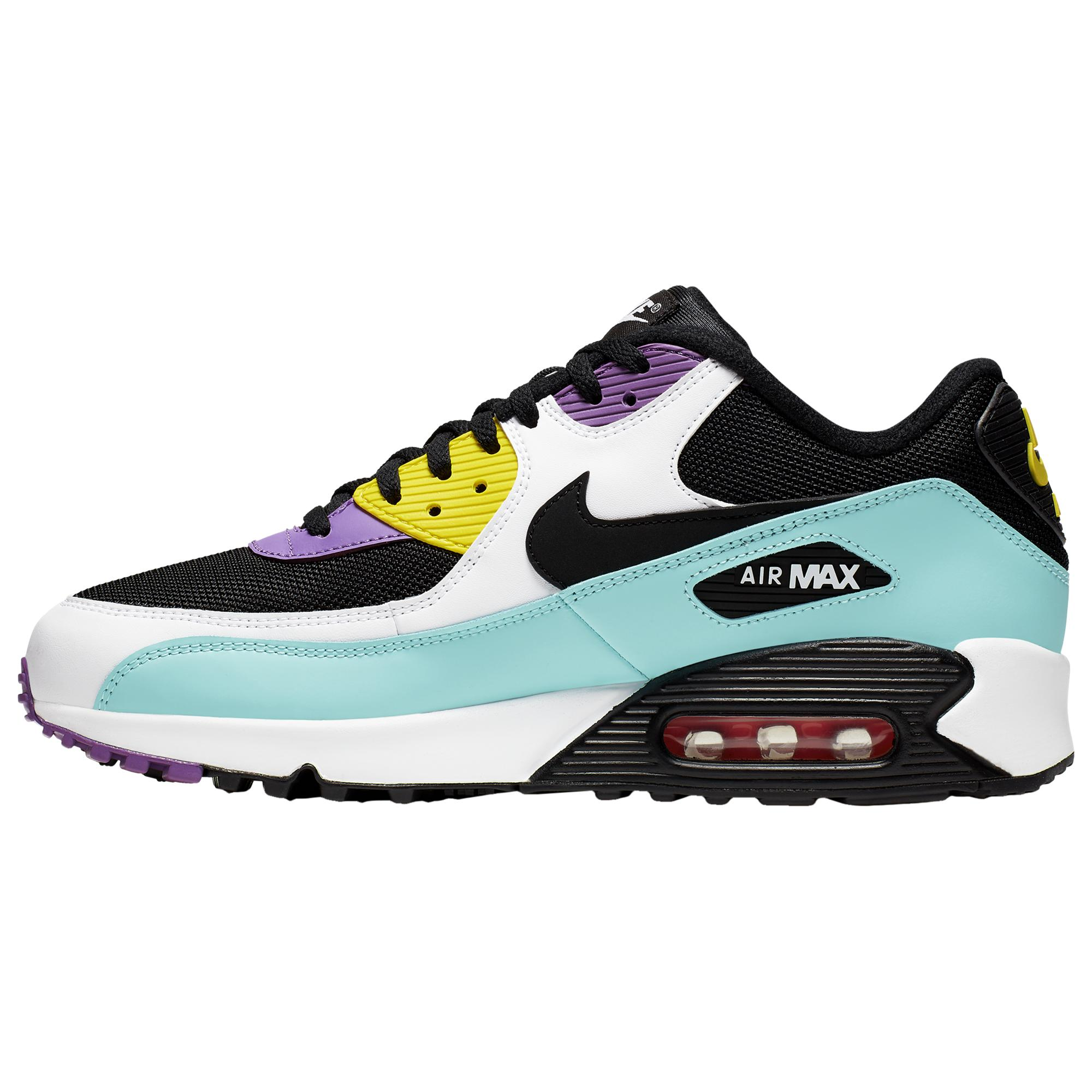 Nike Synthetic Air Max 90 - Running Shoes in Black/White/Bright ...