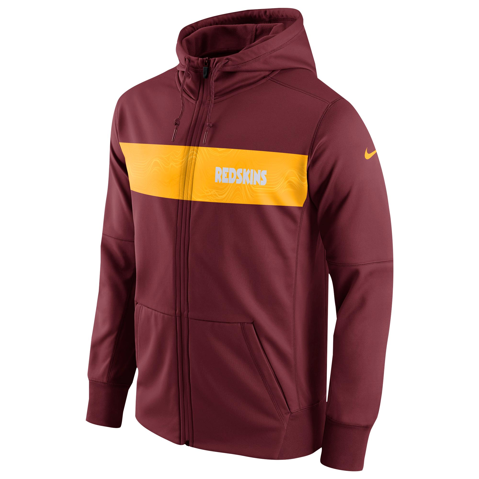 44b29947 Nike Washington Redskins Nfl Sideline Therma Seismic Fz Hoodie in ...