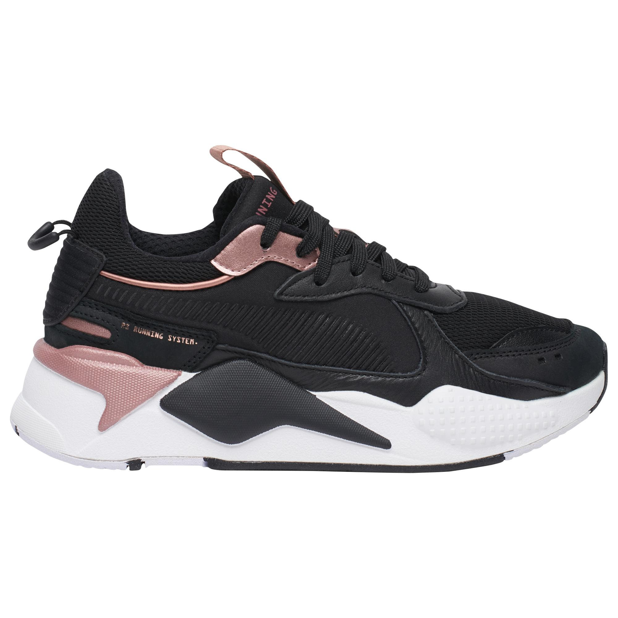 PUMA Leather Rs-x Trophy in Black/Rose