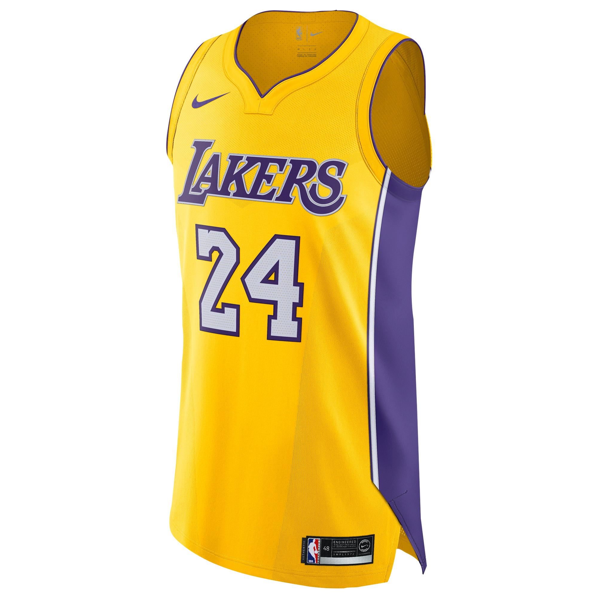Nike Synthetic Kobe Bryant Nba Authentic Jersey in Yellow for Men ...