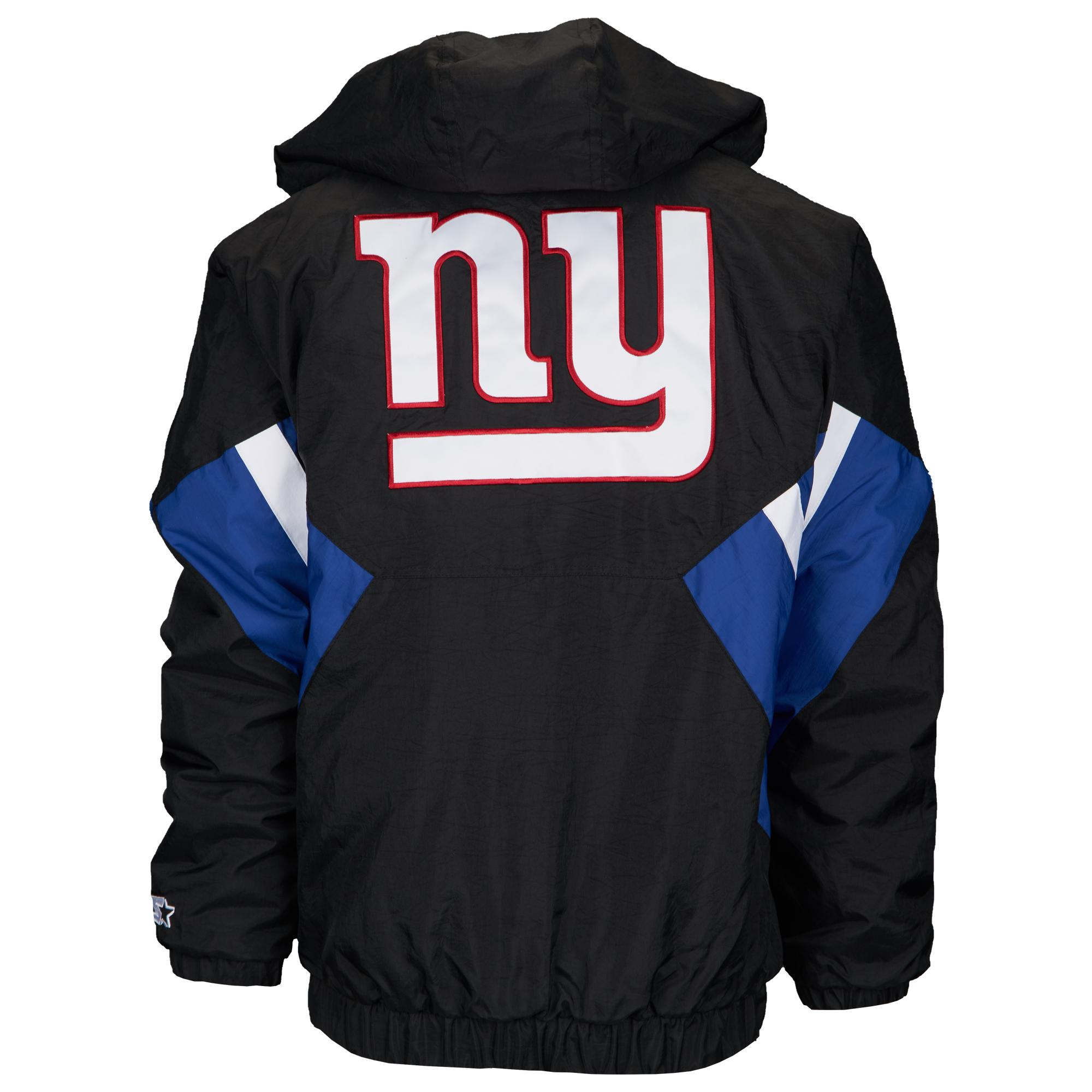 outlet store 11e2a 4b810 Starter New York Giants Nfl 1/2 Zip Hooded Pullover Jacket ...