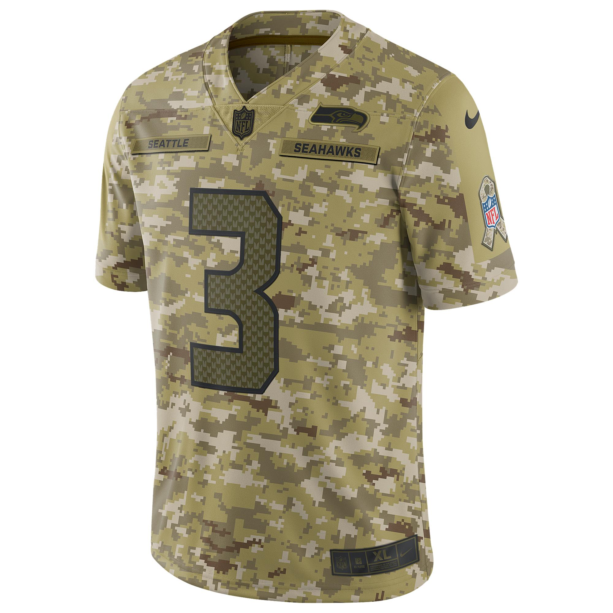 detailed look 0559f 2f2ab Men's Green Nfl Salute To Service Limited Basketball Jersey