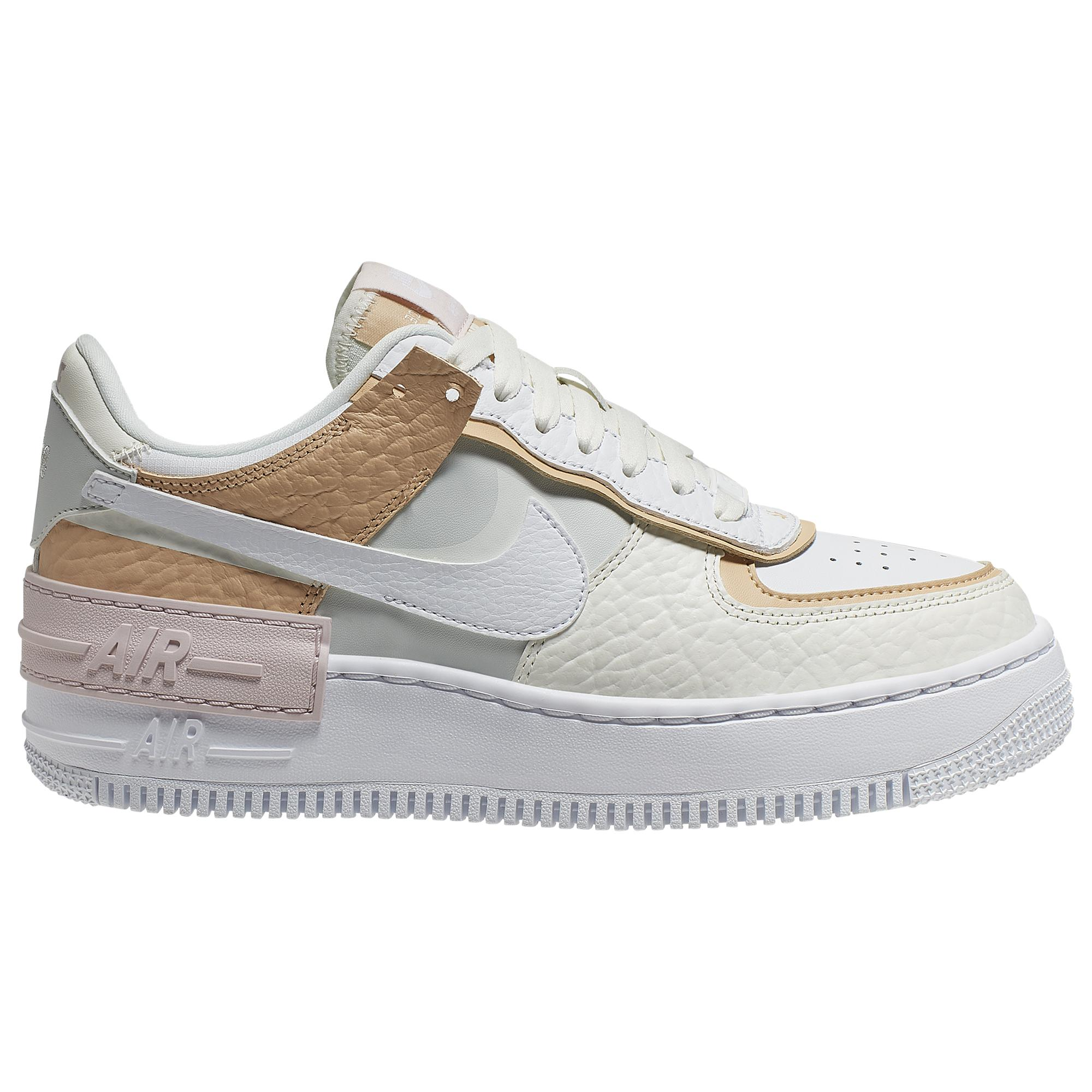 Nike Leather Air Force 1 Shadow Basketball Shoes in White - Lyst