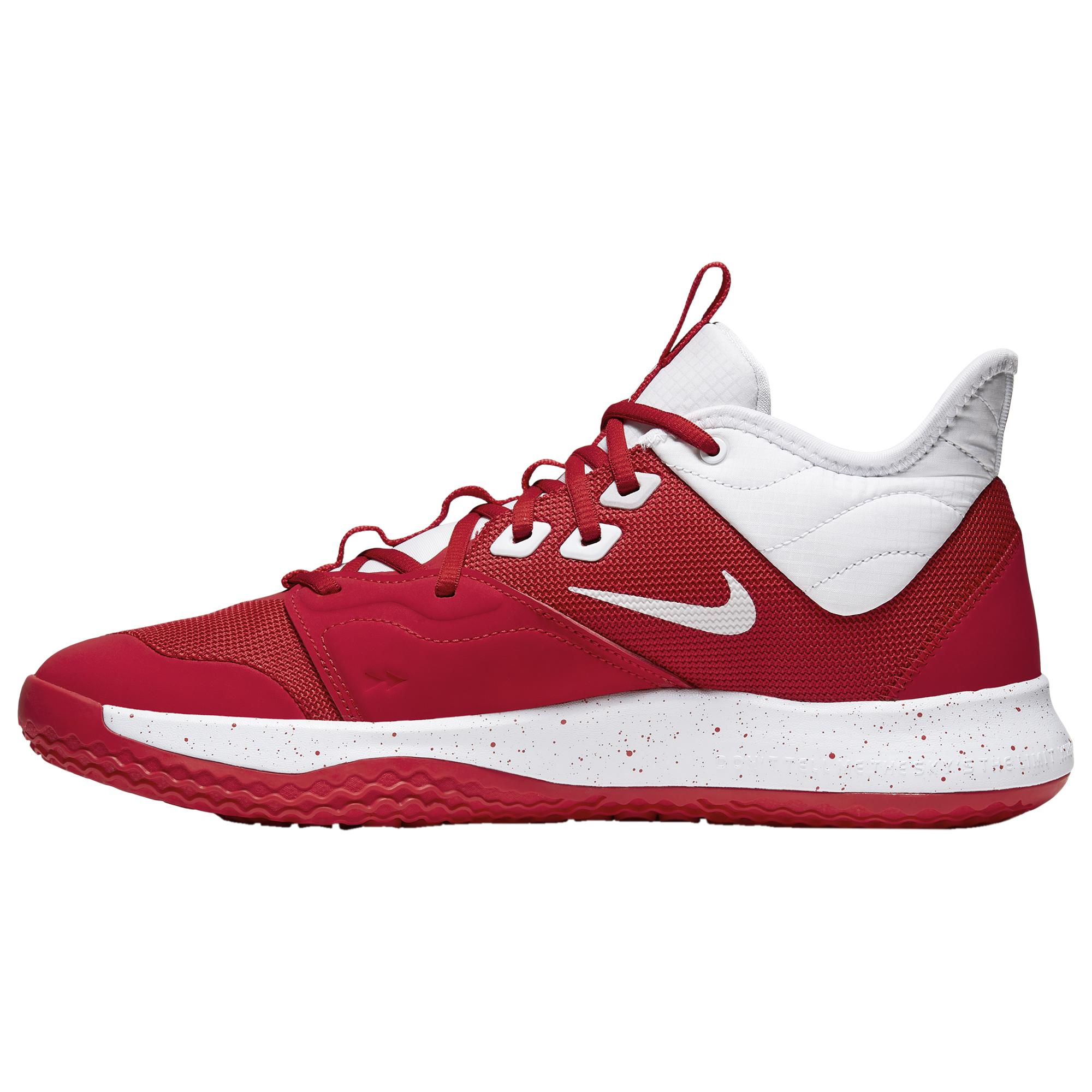 pretty cheap classic shoes best Nike Synthetic Pg 3 (team) Basketball Shoe in University Red/White ...